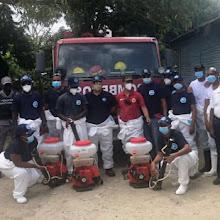 COE, Alcaldia y Distrito 01-05 realizan operativos de desinfección en instituciones públicas de Vicente Noble