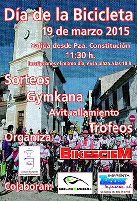 Ciempozuelos celebrará el Día de la bicicleta el 19 de marzo de 2015