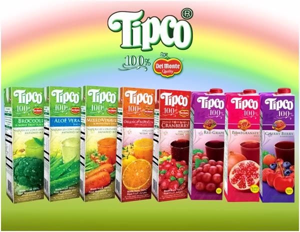 Tipco 100% Juices by Del Monte