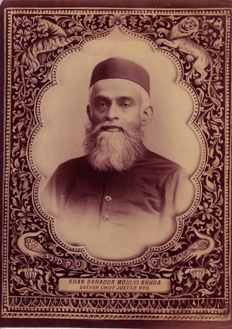 Maulvi Khuda Bakhsh, the Nizam's Chief Justice, in a formal photo, c.1880