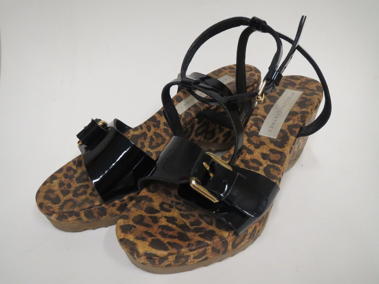 Stella McCartney Leopard Print Sandals