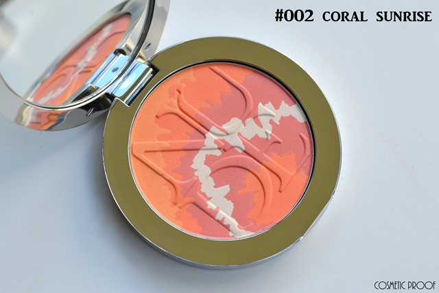 Dior Diorskin Nude Tan Tie Dye Blush in Pink Sunrise and Coral Sunset Swatch Review (3)