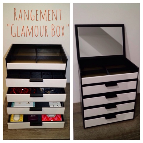 rangements astucieux pour bijoux maquillage par davidt 39 s clairemakeupandco. Black Bedroom Furniture Sets. Home Design Ideas