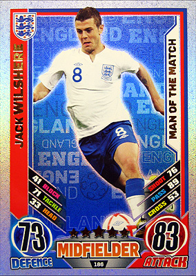 Topps Match Attax England 2012 #42 ジャック・ウィルシャー