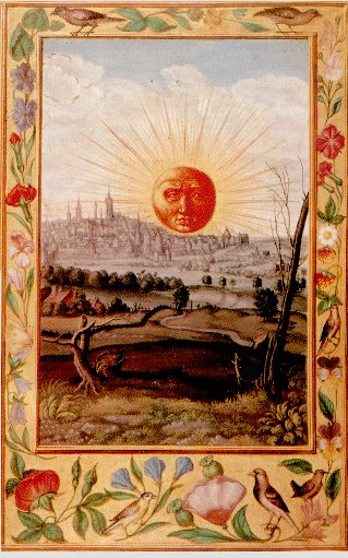 Sun Rising Over The City From Splendor Solis, Hermetic Emblems From Manuscripts 1