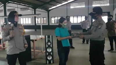 Kapolres Banjar Berserta Jajaran dan Pemerintahan Berikan Imbauan Protokol Kesehatan di PT. SUNG Chang