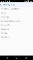 Screenshot of Beauty Tips & Exercises
