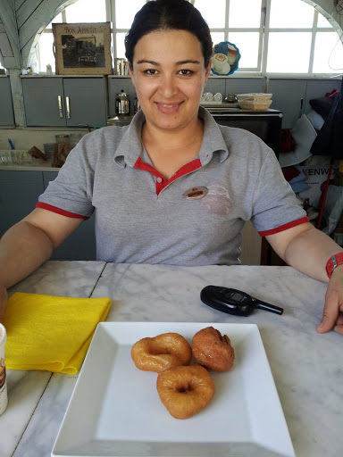 Fresh donuts in Sirince, Turkey