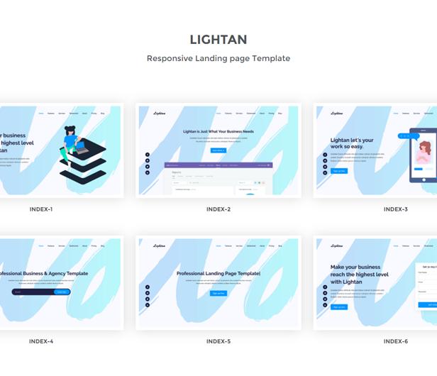 Lightan - Responsive Bootstrap 4 Landing Template - 1