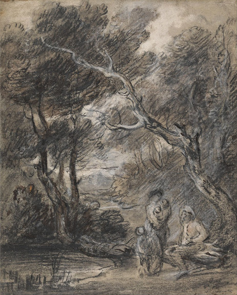 Thomas Gainsborough - Wooded Landscape with Figures