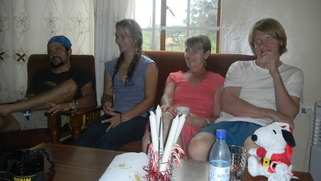Daniel, Theresa, Tish, Liles, Christmas Mochudi 2011