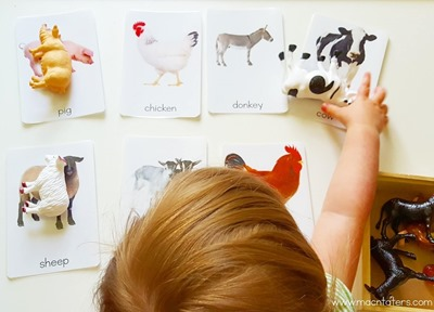 Montessori Inspired Farm Animal Picture Matching Activity