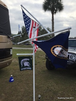 Added our Spartan flag