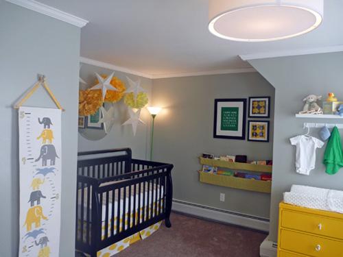 Seasons of autumn nursery inspiration - Gray and yellow baby room ...