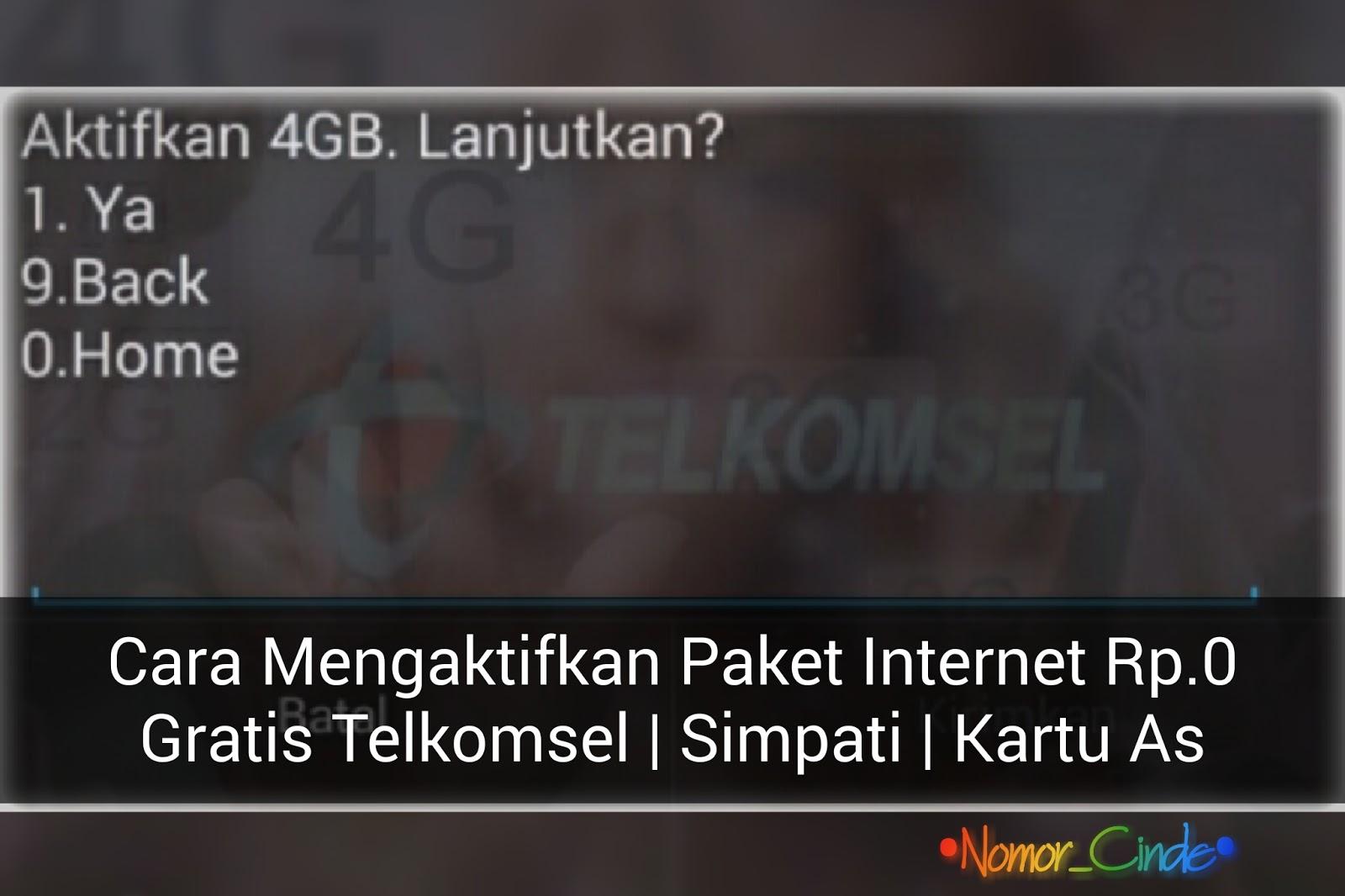 Kode Paket Rp 0 Internet Gratis Telkomsel Dengan Kartu Simpati Dan