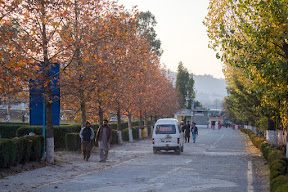 When sun was setting down on the main road, Comsats University