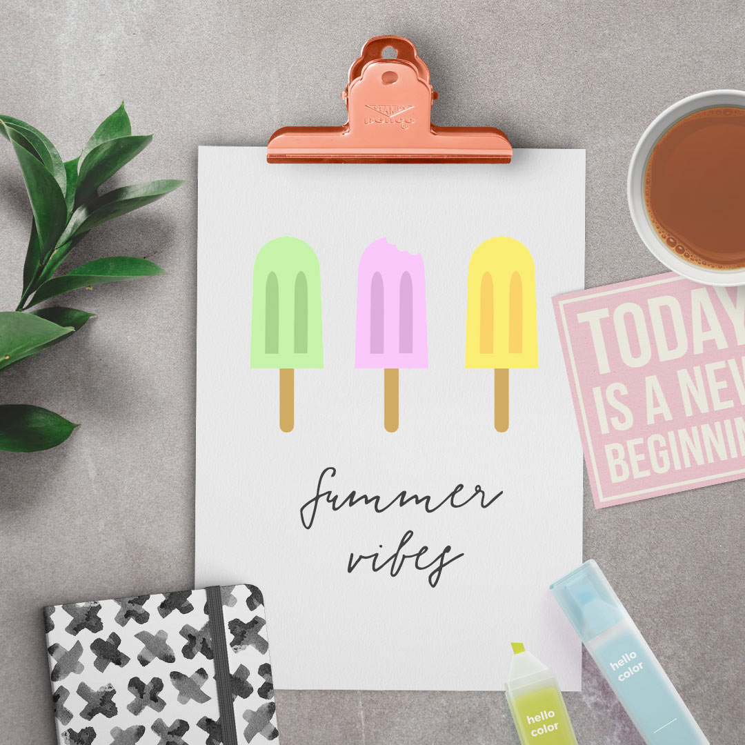 Example Summer vibes printable
