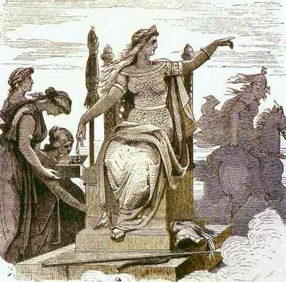 Frigg On Her Throne, Asatru Gods And Heroes