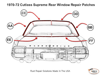 Rustreplace.com,Belden Speed & Engineering,Cutlass Supreme,Window channel rust