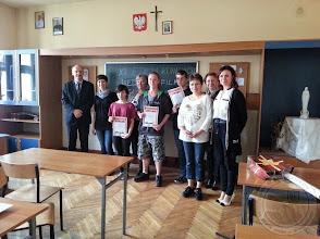 Photo: Finał XI Konkursu o Filmie Anglojęzycznym II miejsce zajął R. Niemkuć IIIa