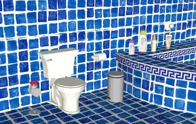 Blue Bathroom Escape