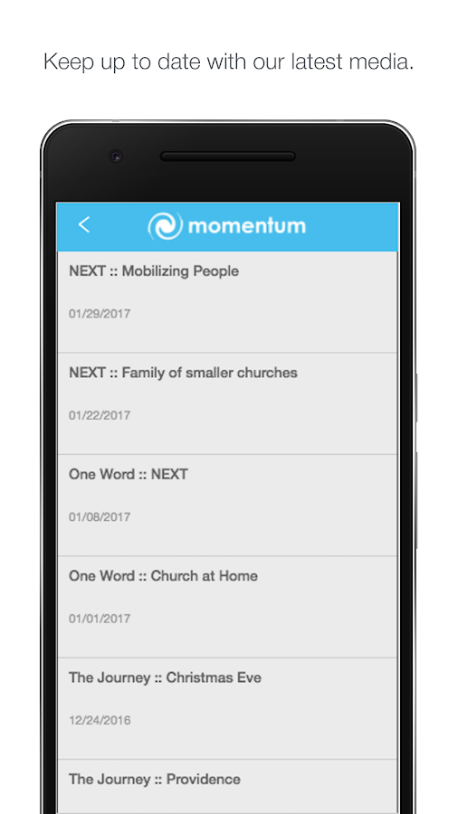 Momentum Christian Church- screenshot