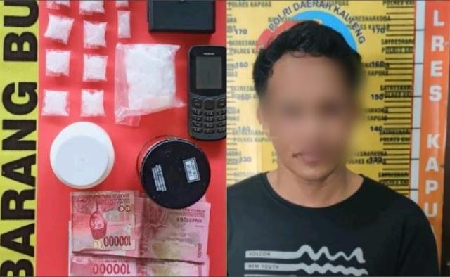 Polisi Ungkap Narkoba di Wilayah Pesisir Kapuas, Satu Pelaku dan 80 Gram Sabu Diamankan