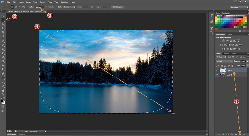 Photoshop - 3 เทคนิคง่ายๆ ในการปรับแต่งภาพแนว Vignette Effect ด้วย Photoshop Vignette06