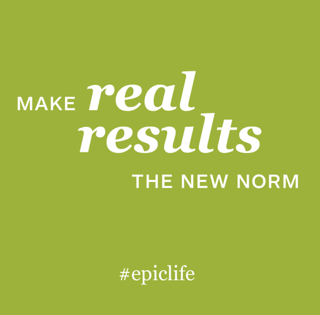 green graphic that reads Make Real Results the New Norm #EpicLife