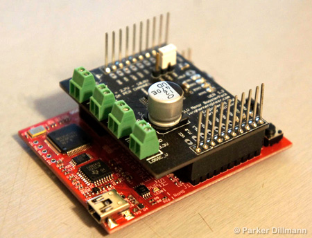 Motor Driver for MSP430 microcontroller