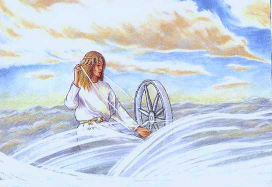Frigg Spinning The Clouds 2, Asatru Gods And Heroes