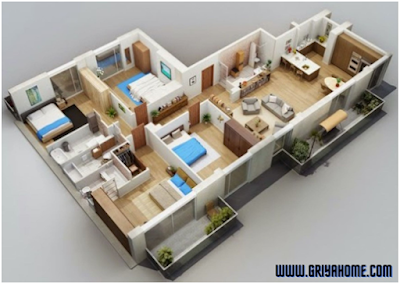 Desain Rumah 2 Lantai Dengan Memaksimalkan Lahan.