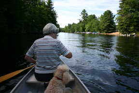 Canoeing with mom and Mr. Jones on Gull River