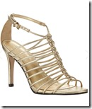 Phase Eight gold leather sandals