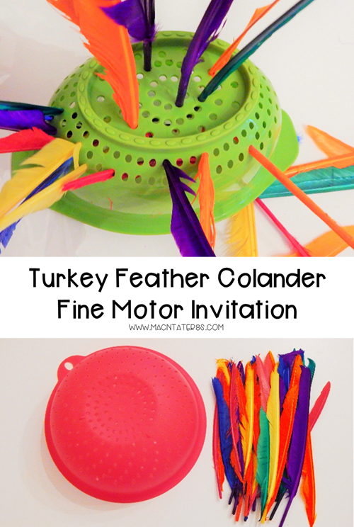 This turkey feather fine motor activity is the perfect Thanksgiving activity for toddlers and children to practice their fine motor skills.