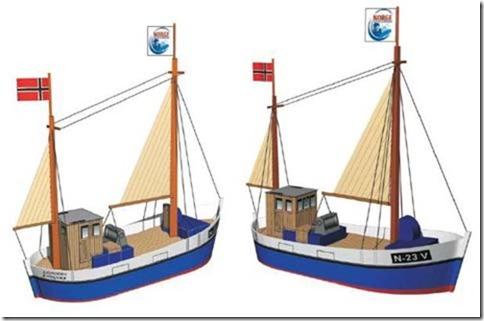descarga gratis barco pesquero con velas para recortar y armar