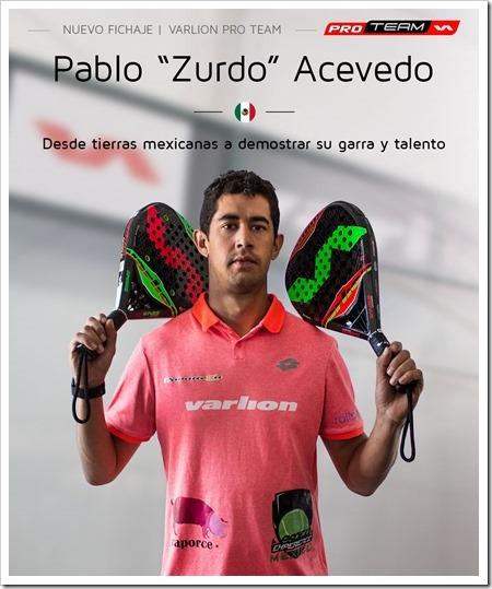 """""""Zurdo"""" Acevedo y """"Pincho"""" Fernández, últimos fichajes de la firma VARLION."""