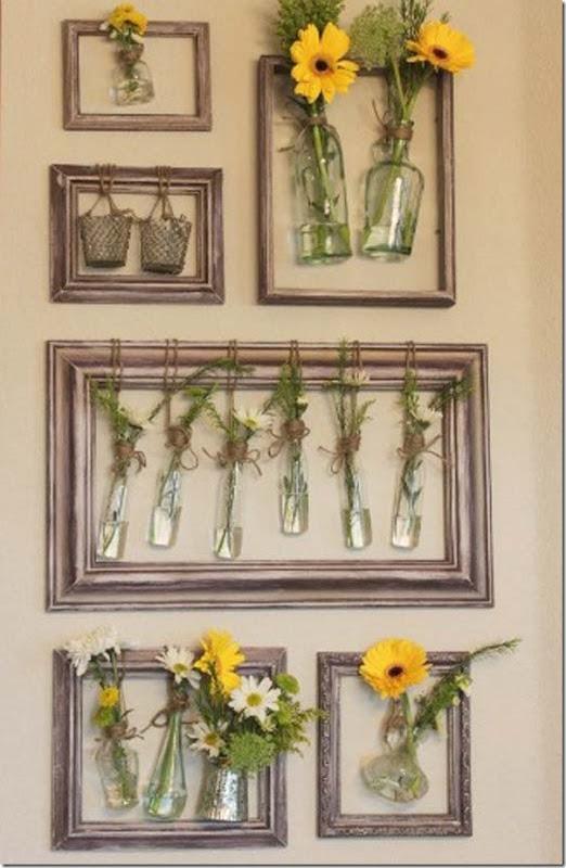 riutilizzare una vecchia Cornice come porta vasi