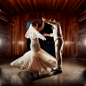 Dancing in a vineyard by Joseph Humphries - Wedding Bride & Groom ( dancing, backlight, wedding, beautiful, spin, bride, rustic, groom )