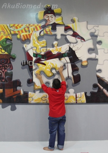 jigsaw puzzle laksamana cheng ho di Magic Art Museum