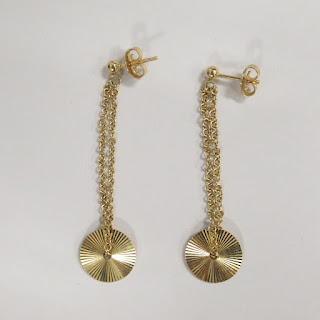 14K Gold Pendant Earrings