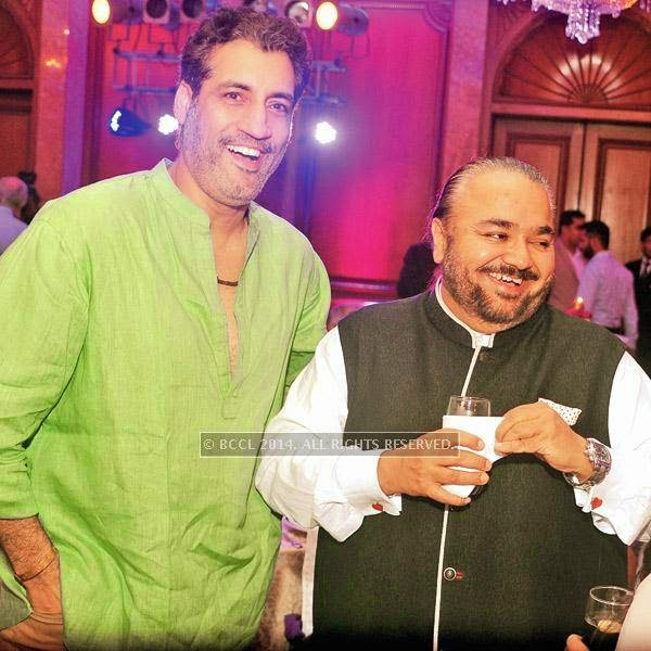 Atul Wassan (L) and JJ Valaya at an event, held in a Delhi hotel.