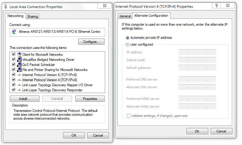 Assign ip address windows 7