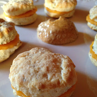 Mini Biscuits with Ham and Cheese-Football Friday