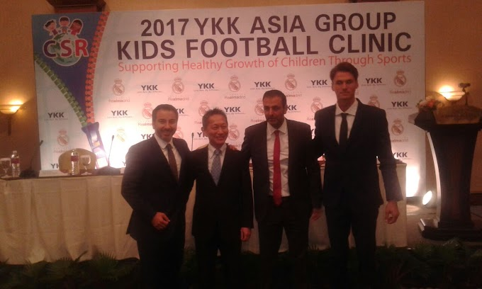 Real madrid foundation dan ykk adakan coaching clinic