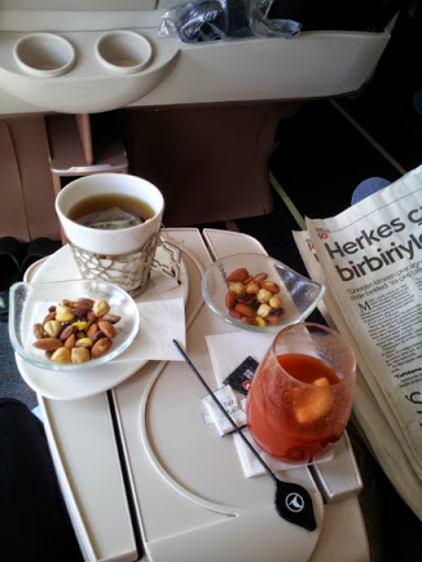 Snacks. From What's It Really Like to Fly Turkish Airlines Business Class?