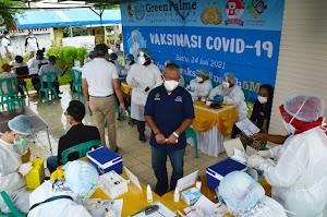 Warga Green Palme Residences Tigaraksa Ikut Mensukseskan Vaksinasi