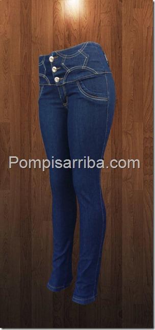 Jeans mezclilla oscura pompisarriba.com