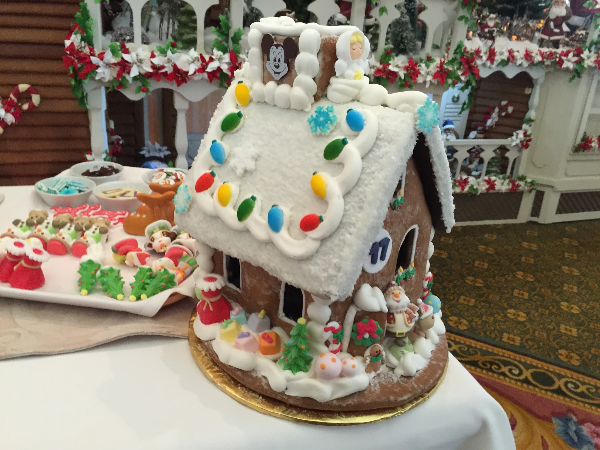Elegant Attendees are presented with recipes and blueprints so you can try your hand at making your own gingerbread house albeit a much smaller one at home