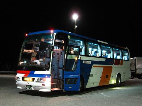 北海道北見バス「高速えんがる号」 2053 比布大雪PAにて